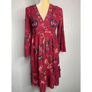 Odd Molly Uncorporated Boho Embellished Dress 0